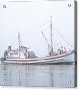 Capelco Passing Thru Foggy Johnson Bay Acrylic Print