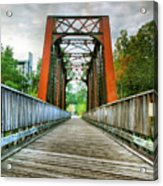 Caperton Trail And Bridge Acrylic Print by Steven Ainsworth
