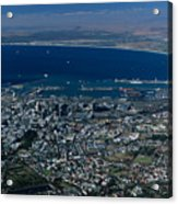 Capetown South Africa Aerial Acrylic Print