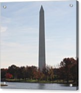 Capital Autumns - The Washington Monument In The Fall Acrylic Print