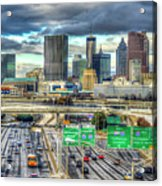 Capital Of The South Atlanta Skyline Cityscape Art Acrylic Print