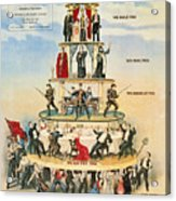 Capitalist Pyramid, 1911 - To License For Professional Use Visit Granger.com Acrylic Print