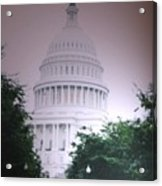 Capitol In Pink Acrylic Print