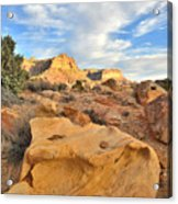 Capitol Reef Sunset Clouds Acrylic Print