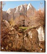 Cappadocia Dovecotes Acrylic Print