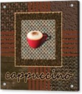 Cappuccino - Coffee Art - Red Acrylic Print