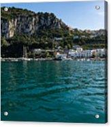 Capri Island Silky Smooth Emerald And Aquamarine Acrylic Print