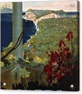 Capri, Italia - Bay Of Naples, Italy - Retro Travel Poster - Vintage Poster Acrylic Print
