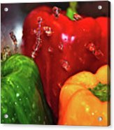 Capsicum In The Wash Acrylic Print