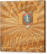 Captain America Lullaby Original Digital Acrylic Print
