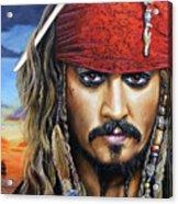 Captain Jack Acrylic Print by Arie Van der Wijst