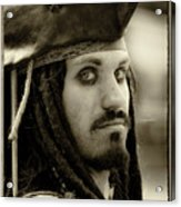Captain Jack Sparrow Acrylic Print by David Patterson