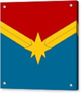 Captain Marvel Logo Acrylic Print