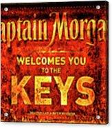 Captain Morgan Welcome Florida Keys Acrylic Print