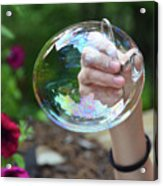 Capturing A Bubble Acrylic Print