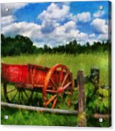 Car - Wagon - The Old Wagon Cart Acrylic Print