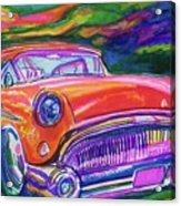 Car And Colorful Acrylic Print by Evelyn Sprouse Rowe