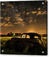 Car And The Milky Way Acrylic Print