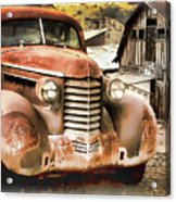 Car Full Of Memories, Ghost Town, Jerome, Arizona Acrylic Print