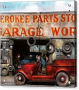 Car - Garage - Cherokee Parts Store - 1936 Acrylic Print