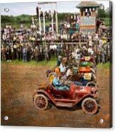 Car - Race - On The Edge Of Their Seats 1915 Acrylic Print