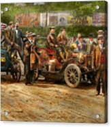 Car - Race - The End Of A Long Journey 1906 Acrylic Print