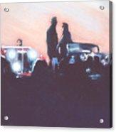 Car Rally At Sunset Acrylic Print