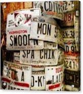 Car Tags Acrylic Print