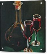 Carafe And Glasses Acrylic Print