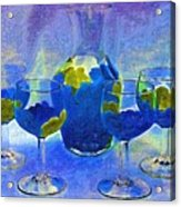 Carafe And Glasses Of Royalty Acrylic Print