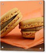 Caramel Orange Macarons Acrylic Print