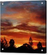 Caramel Sunset Acrylic Print