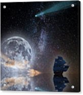 Caravel And Comet Acrylic Print