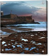 Fort In Carcavelos Beach Acrylic Print