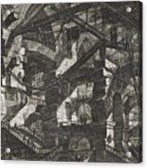 Carceri Series, Plate Xiv Acrylic Print