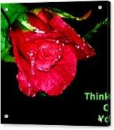 Card Acrylic Print