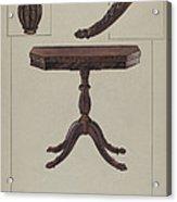Card Table Acrylic Print