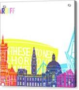 Cardiff Skyline Pop Acrylic Print