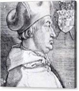 Cardinal Albrecht Of Brandenburg 1523 Acrylic Print