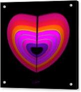 Cardinal Heart Acrylic Print