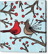 Cardnials In Love Acrylic Print