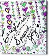 Caregivers Spread Joy Acrylic Print