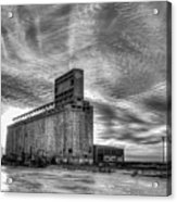 Cargill Sunset In B/w Acrylic Print