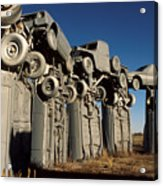 Carhenge In The Afternoon Acrylic Print
