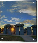 Carhenge - Nebraska - Sunset Acrylic Print