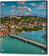 Caribbean Color Palette Acrylic Print