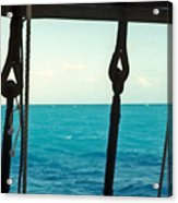 Caribbean From A Square Rigger Acrylic Print