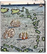 Caribbean Map Acrylic Print