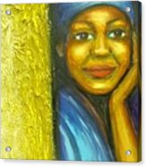 Caribbean Mystery Lady Acrylic Print