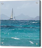 Caribbean Sailing Acrylic Print